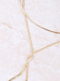 X Collar Necklace Anarchy Street Gold - Details