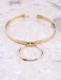 Door Knocker Choker Anarchy Street Gold