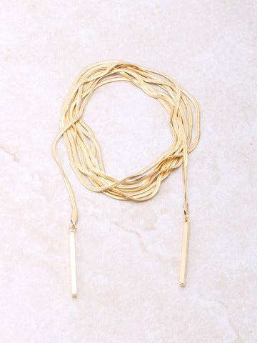 Wrap Around Choker Anarchy Street Gold