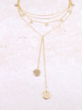 Hanging Disks Choker Anarchy Street Gold - Details