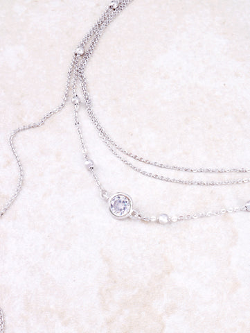 Crystal Clear Choker Anarchy Street Silver - Details