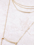 Double Bar Lariat Choker Anarchy Street Gold - Details