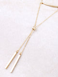 Double Bar Lariat Choker Anarchy Street Gold - 1 Details