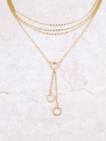 Pave Disk Choker Anarchy Street Gold