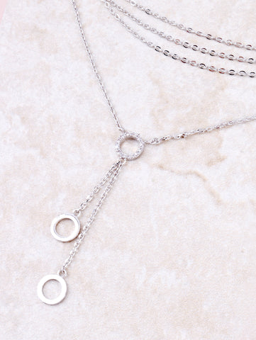 Pave Disk Choker Anarchy Street Silver - Details
