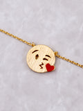 Emoticon Pendant Necklace Anarchy Street Gold - Details