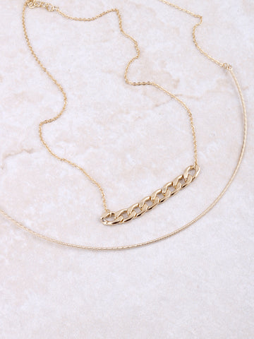 Curb Chain Layered Choker