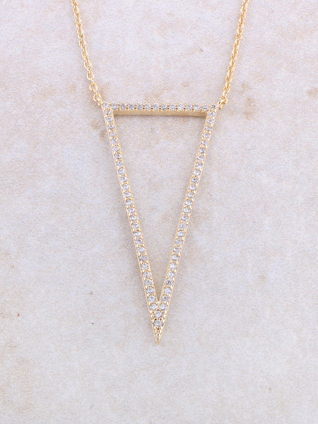 Empty Pave Pendant Necklace Anarchy Street Gold