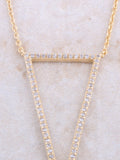 Empty Pave Pendant Necklace Anarchy Street Gold - Details