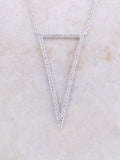 Empty Pave Pendant Necklace Anarchy Street Silver