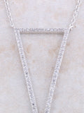 Empty Pave Pendant Necklace Anarchy Street Silver - Details