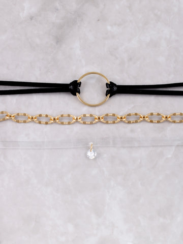 Triple Mixed Choker Anarchy Street Black - Details