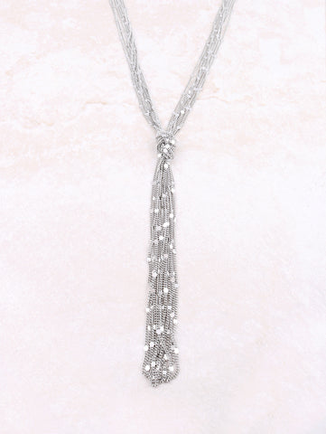 Knotted Tangled Necklace Anarchy Street Silver - Details