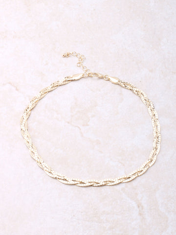 Braided Choker Anarchy Street Gold
