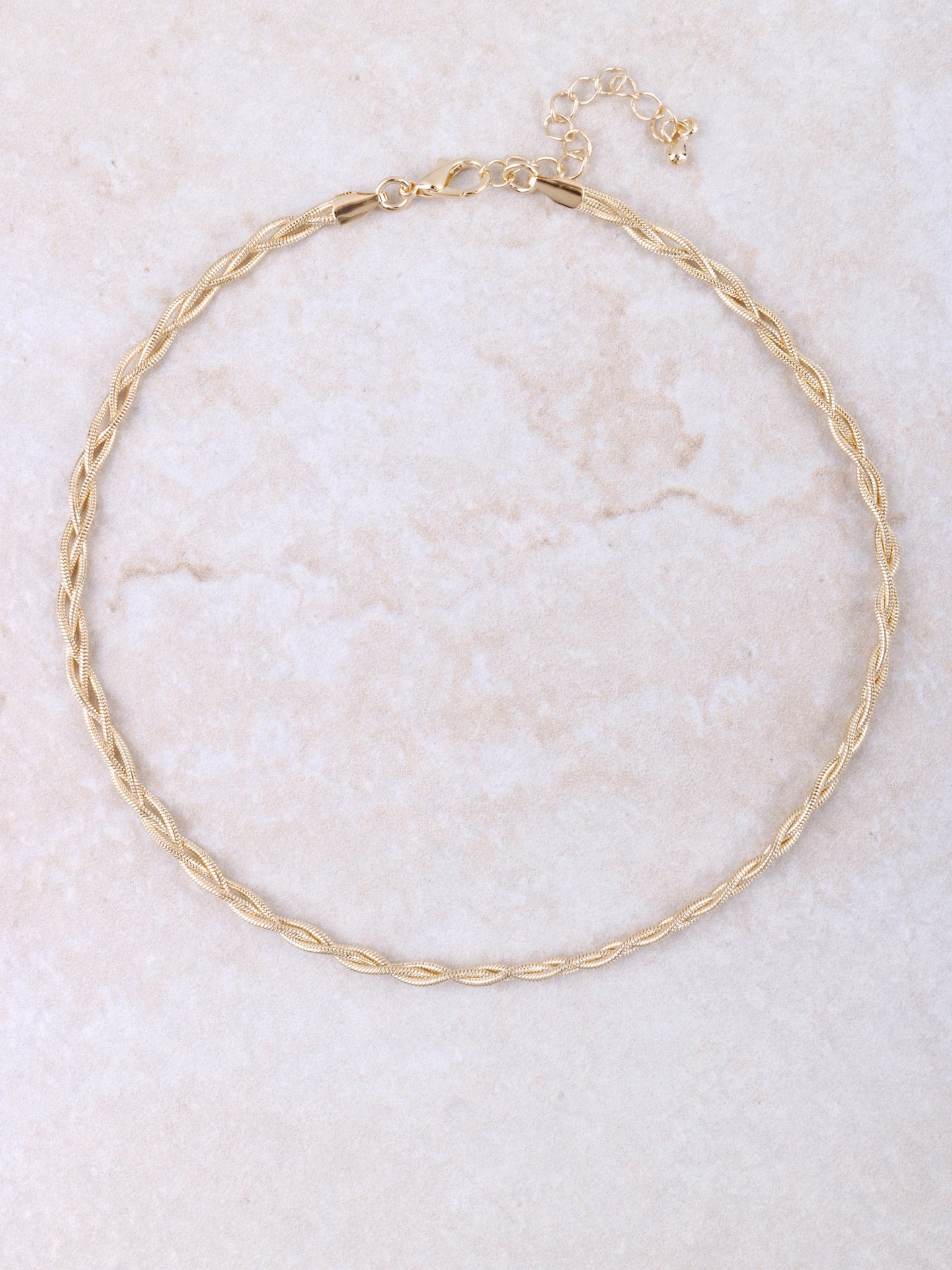 Matte Braided Choker Anarchy Street Gold
