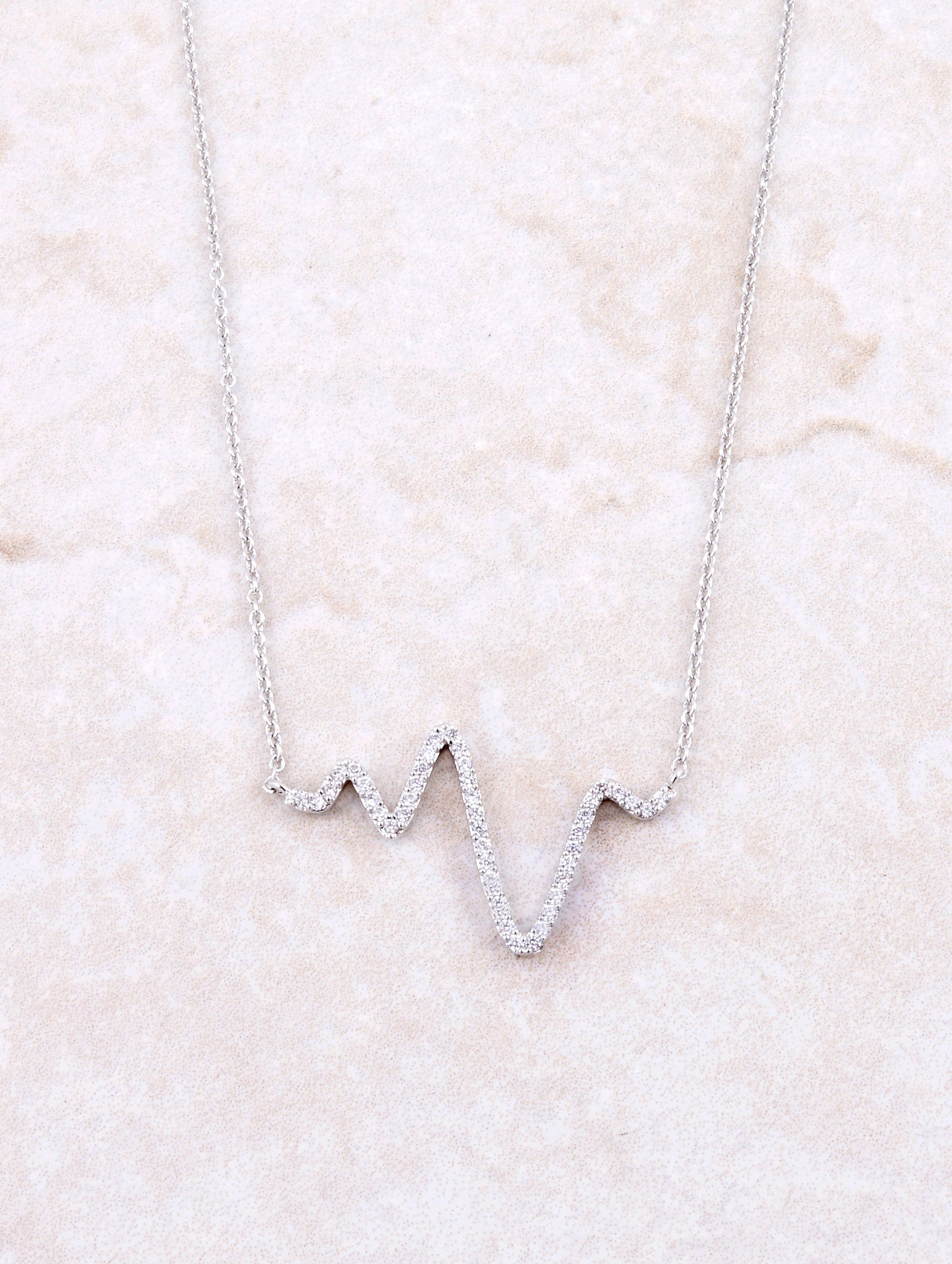 Pave Pulse Necklace