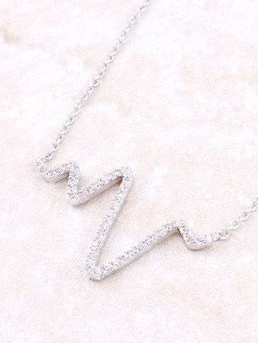 Pave Pulse Necklace Anarchy Street Silver - Details