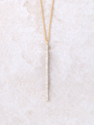 Dotted Pave Bar Necklace Anarchy Street Gold
