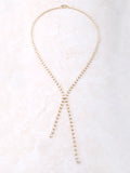 Dot Lariat Necklace Anarchy Street Gold