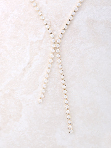 Dot Lariat Necklace Anarchy Street Gold - Details
