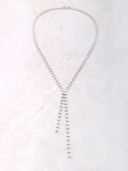 Dot Lariat Necklace Anarchy Street Silver