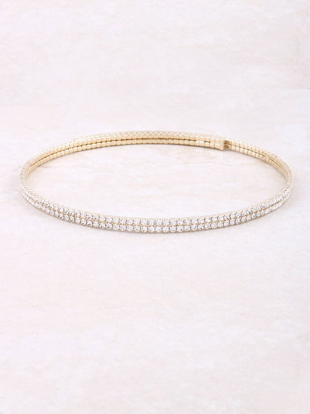 Encrusted Wrap Choker
