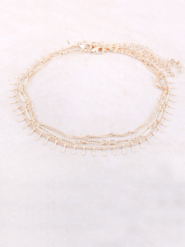 Tres Linked Choker Anarchy Street Gold