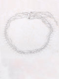 Tres Linked Choker Anarchy Street Silver