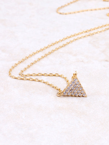 Pave Triangle Necklace Anarchy Street Gold