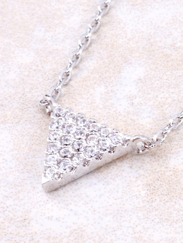 Pave Triangle Necklace Anarchy Street Silver - 1 Details