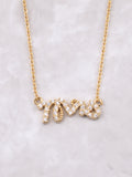 Mrs Pave Necklace Anarchy Street Gold