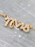 Mrs Pave Necklace Anarchy Street Gold - Details