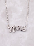 Mrs Pave Necklace Anarchy Street Silver