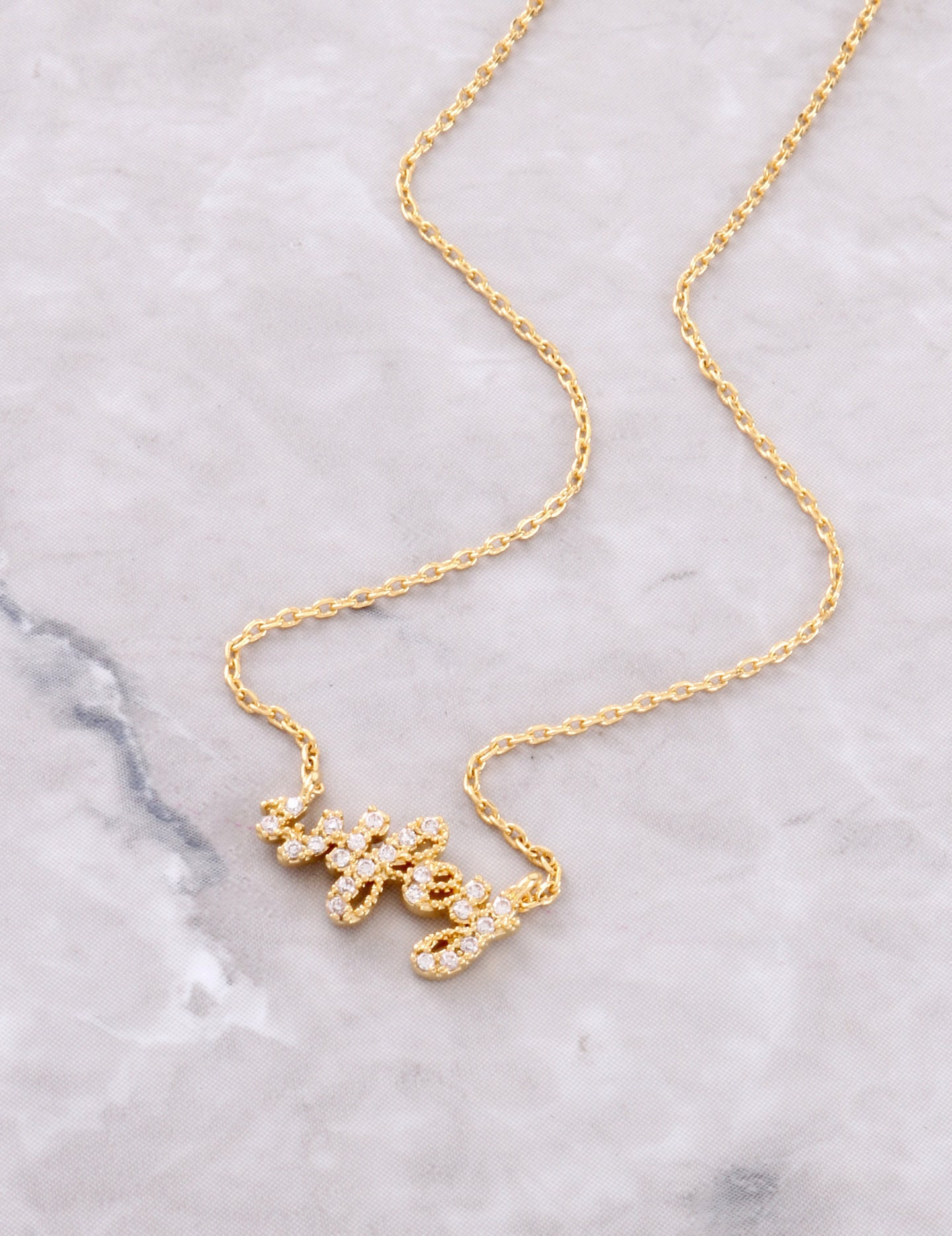 Pave Wifey Necklace Anarchy Street Gold