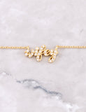 Pave Wifey Necklace Anarchy Street Gold - Details