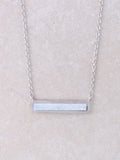 Halographic Bar Necklace
