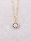 Halographic Pave Dot Necklace