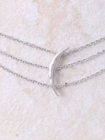 Crescent Triple Chain Choker