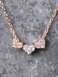 Three Hearts Necklace Anarchy Street Rosegold
