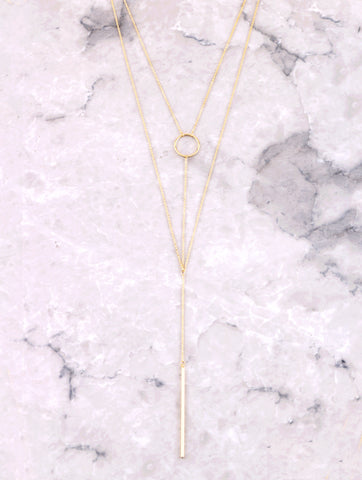 Double Lariat Necklace Anarchy Street Gold