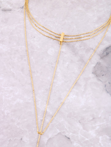 Triple Chain Choker Anarchy Street Gold