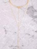 Triple Chain Choker Anarchy Street Gold - Details