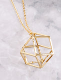 Cage Pendant Necklace Anarchy Street Gold - Details