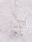 Cage Pendant Necklace Anarchy Street Silver - Details