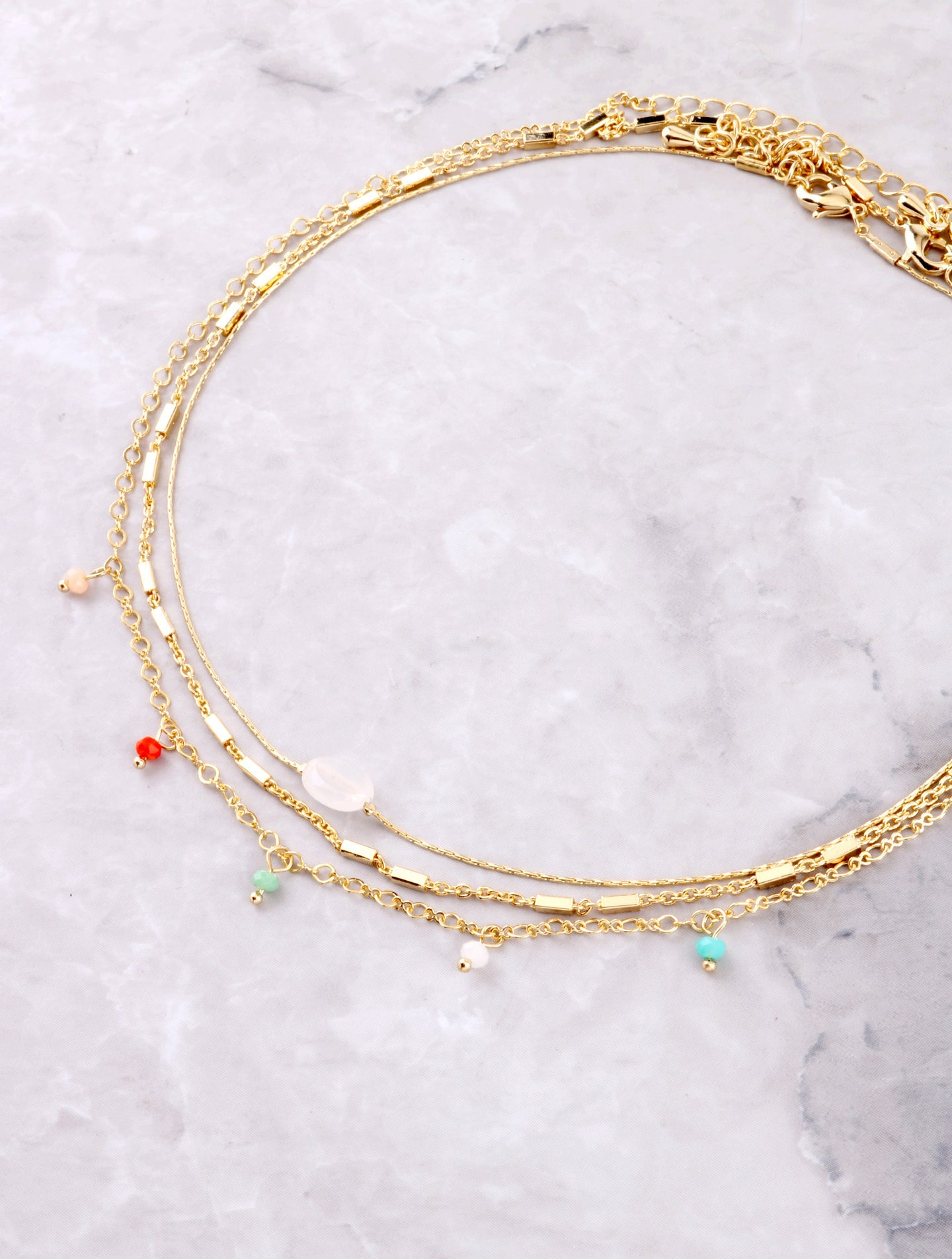 Colorful Stone Dainty Choker Set Anarchy Street Multi