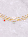 Colorful Stone Dainty Choker Set Anarchy Street Multi - Details