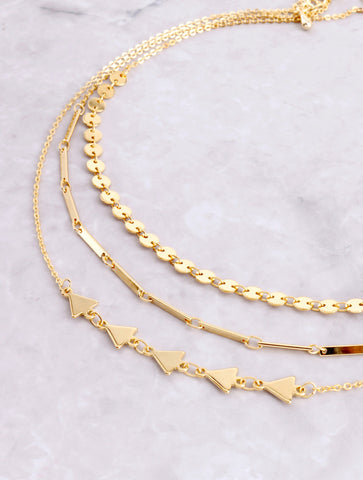 Shapely Dainty Choker Set Anarchy Street Gold