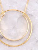 Double Loop Necklace Anarchy Street Gold - Details