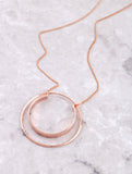 Double Loop Necklace Anarchy Street Rosegold