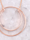 Double Loop Necklace Anarchy Street Rosegold - Details